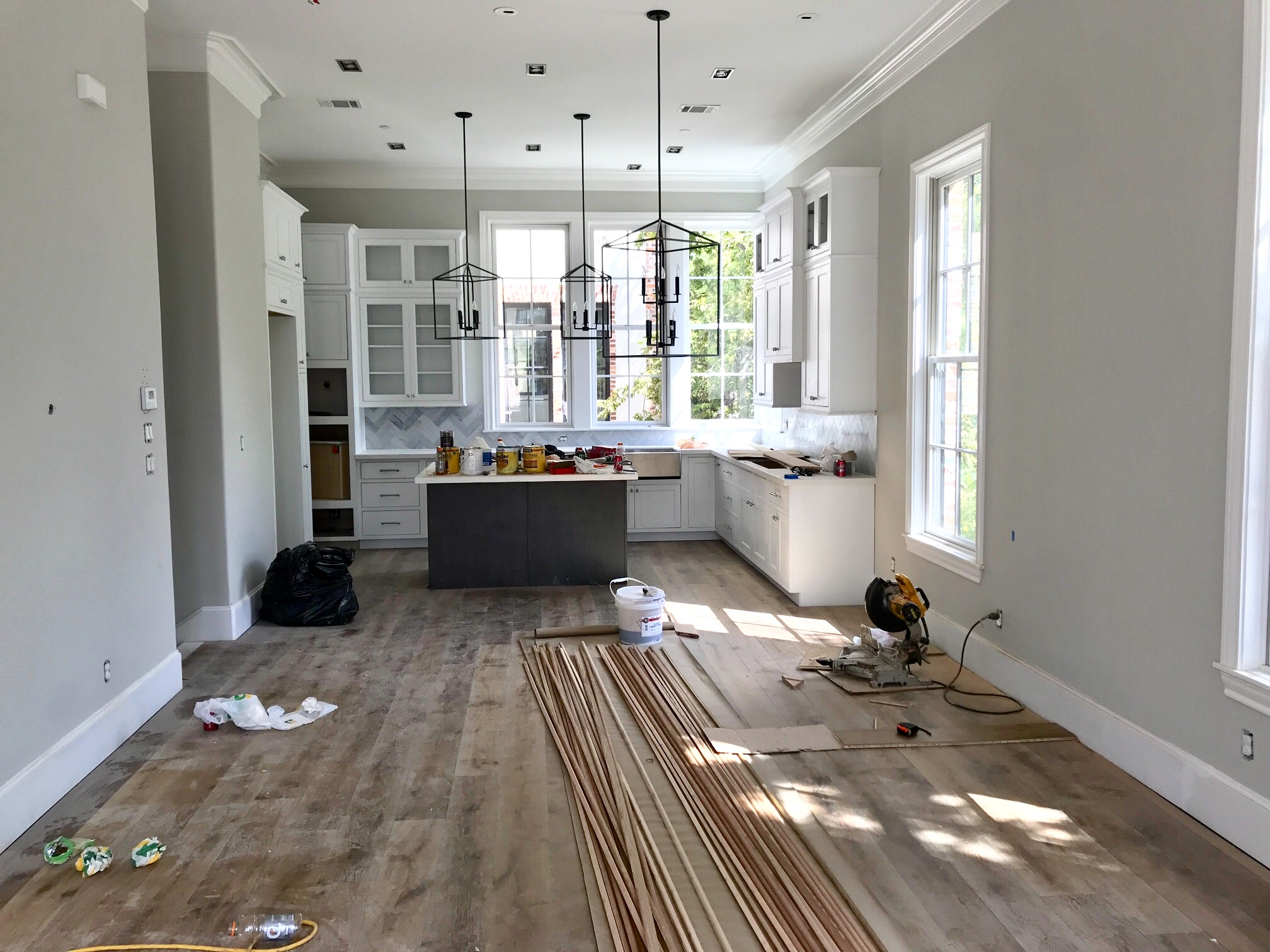 Edith Barrera Interiors Before Pic Of White Kitchen That Gets A Warm Pop Of Color Design By Edith Barrera Interiors Llc