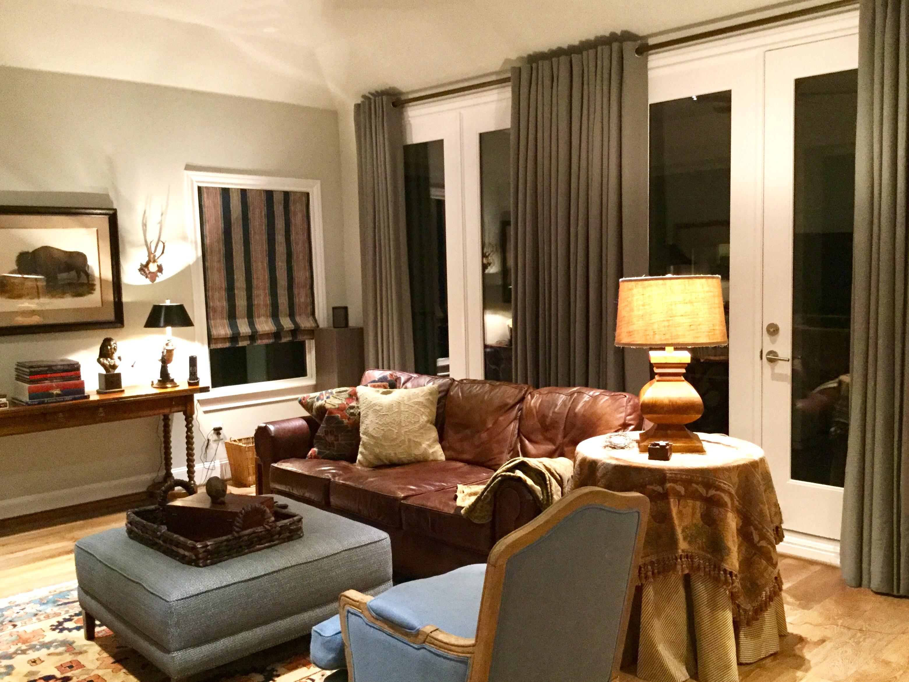 Edith Barrera Interiors Media Room With A Houston Texas